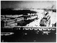 Genova, a kikötő egy része