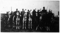 A bábolnai hadiárva lovas-zenekar a mezőgazdasági kiállításon