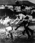 Jelenet a Ferencvaros-Racing Club párizsi mérkőzéséről