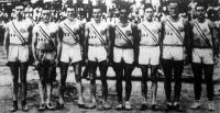 A Magyarországon túrázó amerikai atléták Spitz, Cunningham, Morris, Fuqua, Metcalfe, McCloskey, Anderson és Laborde