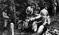 A karambol után Campari és Borsachini kocsija