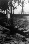 Kövekből készült út (Margit rakpart és a Jégverem ucca sarkán)