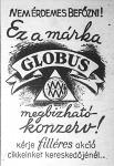 Globus konzerv hirdetése