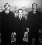 Rómában három ország kormányelnöke: Gömbös Gyula, Dollfuss és Mussolini