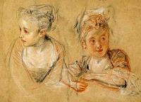 Watteau - Tanulmányrajz