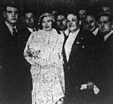 Vitéz Halassy Olivér és Antal Manci esküvője