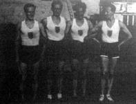 A MAC győztes 4x1500 m-es csapata Juhász, Istenits, Rátonyi, Szabó Miklós
