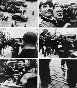 Sándor Jugoszláv király fogadása Marseilleben