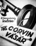 Corvin-vásár hirdetése