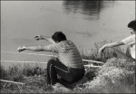 Pecázók a patakon